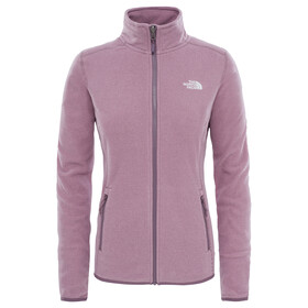 The North Face W's 100 Glacier FZ Jacket Black Plum Stripe